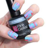 Colorful Stripes met de Pink Gellac Candy Couture